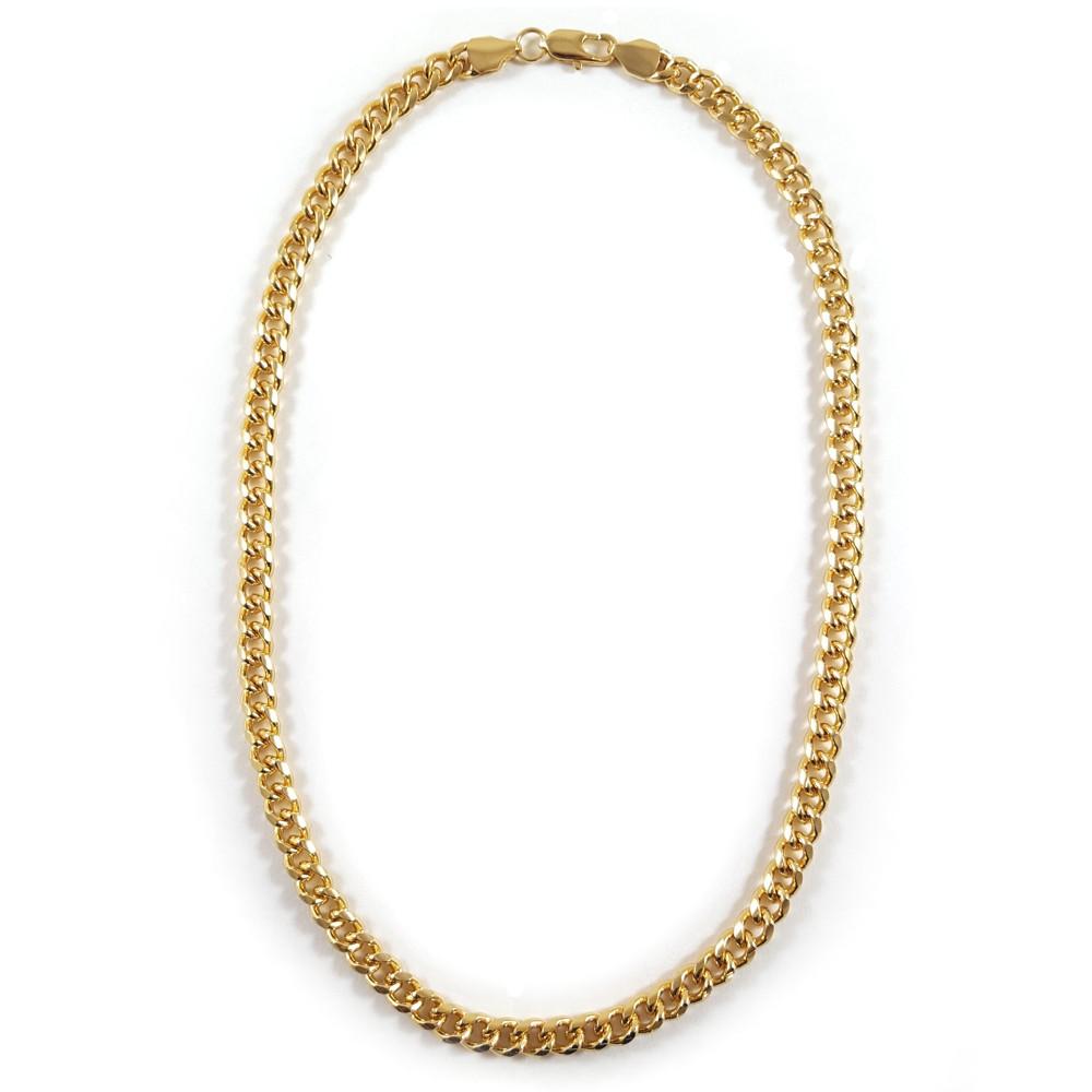 goldkette halskette panzerkette herren 51cm kette gold. Black Bedroom Furniture Sets. Home Design Ideas