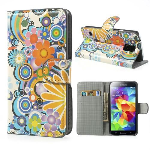 Flip Cover Schutz-Hülle zu Samsung Galaxy S5 / SM-G900F - Handy-Tasche/Case #SBM