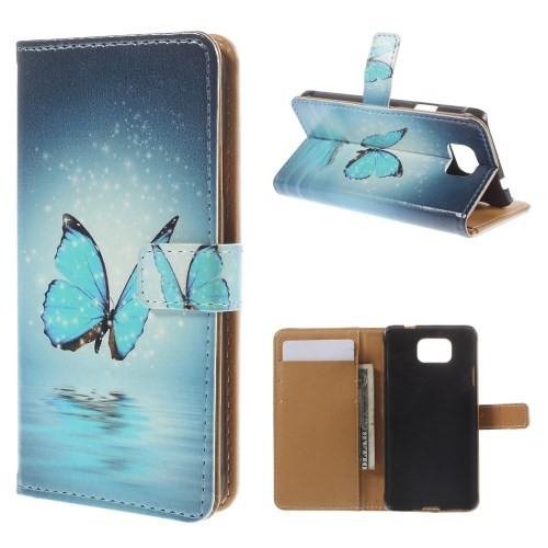 Flip Cover/Schutz-Hülle zu Samsung Galaxy Alpha / SM-G850 - STAND BOOK MOTIV #03