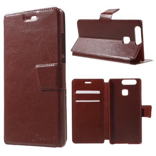 Flip Cover Schutz-Hülle zu Huawei P9 - BOOK EINFARBIG Handy-Tasche/Case