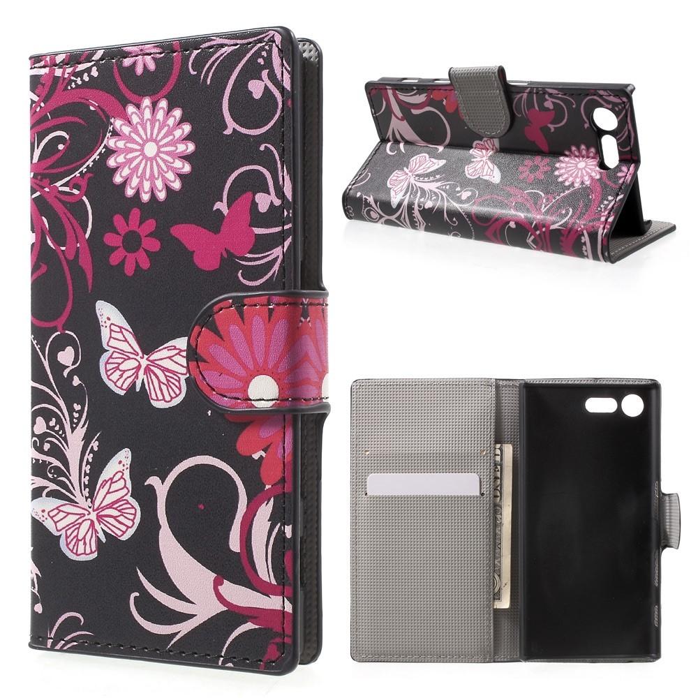 Flip Cover Schutz-Hülle zu Sony Xperia X Compact - BOOK MOTIV Handy-Tasche Case