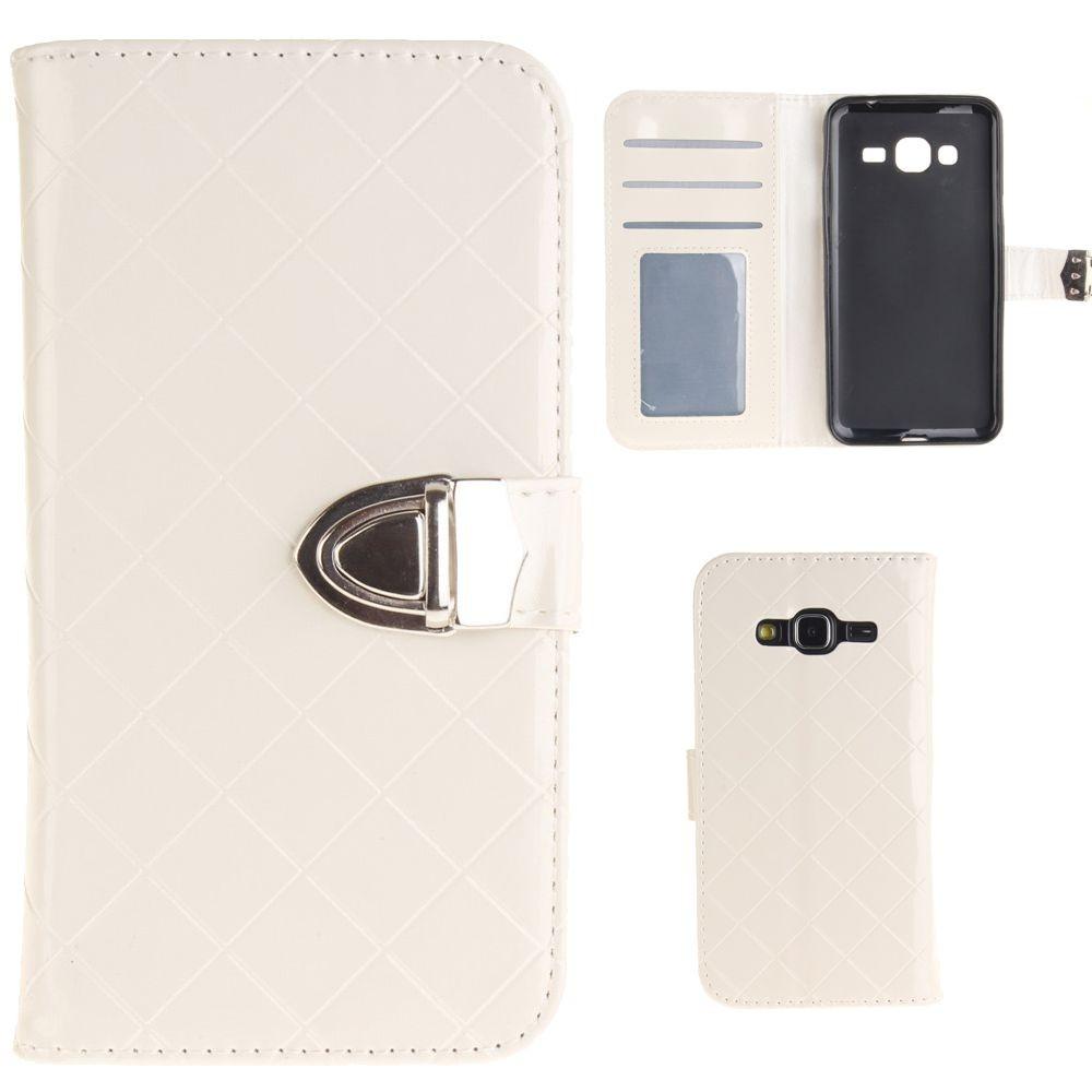Flip Case Handy-Hülle zu Samsung Galaxy J3 2016 DUOS SM-J320 Tasche Schutz #BE04