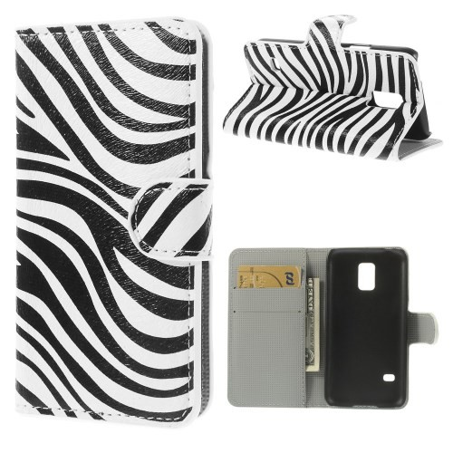 flip case handy h lle zu samsung galaxy s5 mini book zebra. Black Bedroom Furniture Sets. Home Design Ideas